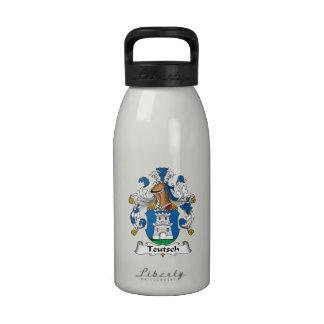 Escudo de la familia de Teutsch Botellas De Agua Reutilizables