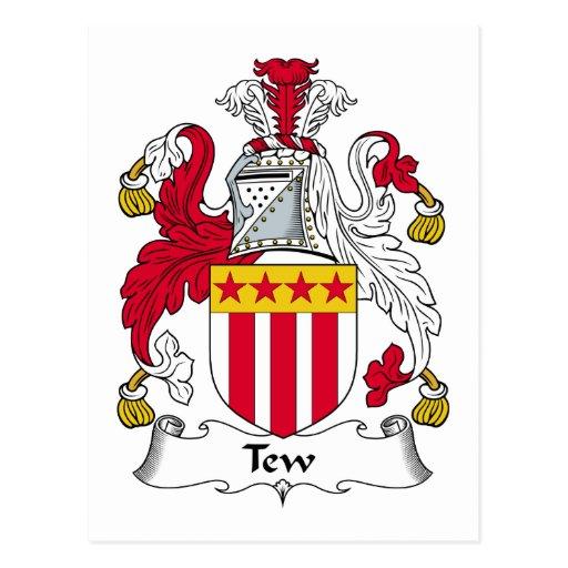Escudo de la familia de Tew Tarjeta Postal