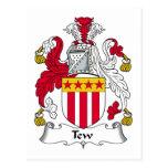 Escudo de la familia de Tew Tarjetas Postales