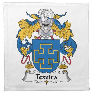 Escudo de la familia de Texeira Servilletas De Papel