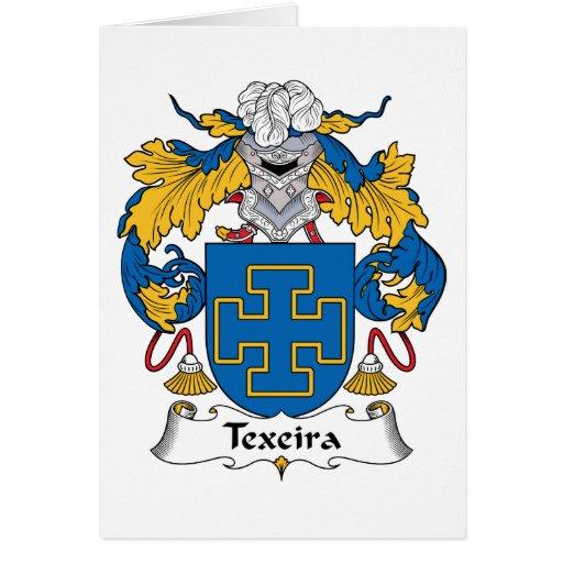 Escudo de la familia de Texeira Tarjeta De Felicitación