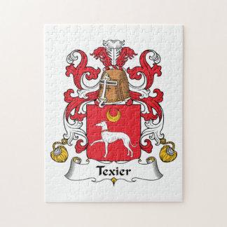 Escudo de la familia de Texier Rompecabezas Con Fotos