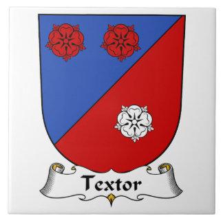 Escudo de la familia de Textor Azulejo Cuadrado Grande