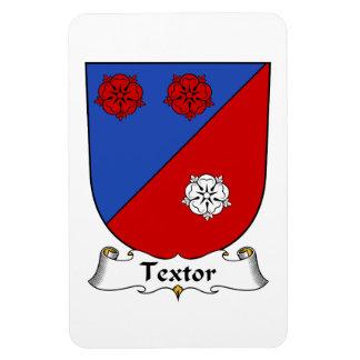 Escudo de la familia de Textor Imanes De Vinilo