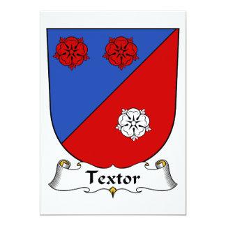 Escudo de la familia de Textor Invitación 12,7 X 17,8 Cm