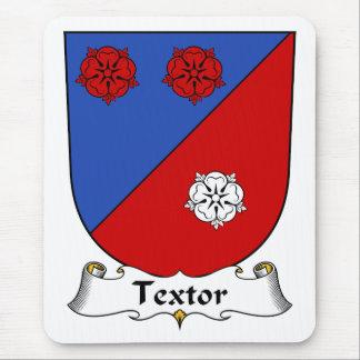 Escudo de la familia de Textor Alfombrillas De Raton