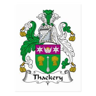 Escudo de la familia de Thackery Tarjetas Postales