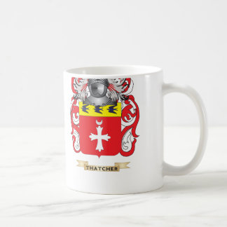 Escudo de la familia de Thatcher (escudo de armas) Taza De Café