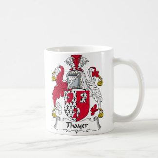 Escudo de la familia de Thayer Taza De Café