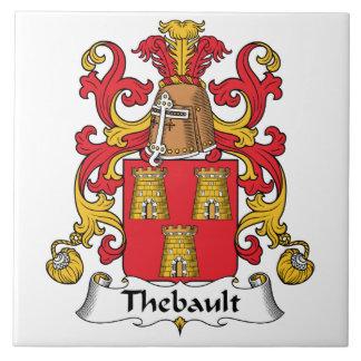 Escudo de la familia de Thebault Azulejos Ceramicos