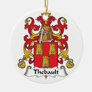 Escudo de la familia de Thebault Adorno Redondo De Cerámica