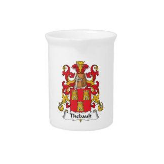 Escudo de la familia de Thebault Jarras Para Bebida