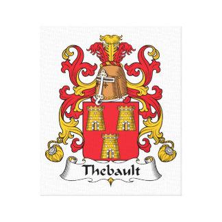 Escudo de la familia de Thebault Impresión En Lona Estirada
