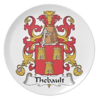 Escudo de la familia de Thebault Plato Para Fiesta