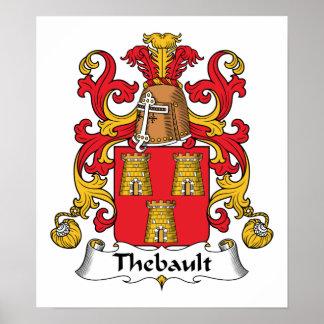 Escudo de la familia de Thebault Posters