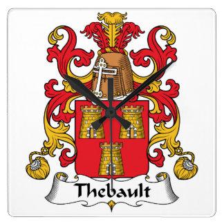 Escudo de la familia de Thebault Relojes De Pared