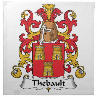 Escudo de la familia de Thebault Servilletas De Papel