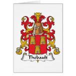 Escudo de la familia de Thebault Tarjetas