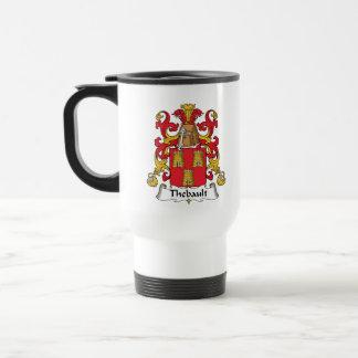 Escudo de la familia de Thebault Tazas De Café