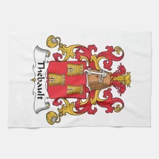 Escudo de la familia de Thebault Toallas De Cocina
