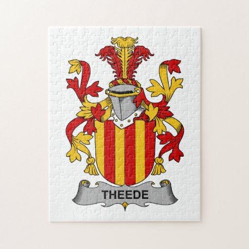 Escudo de la familia de Theede Puzzles Con Fotos
