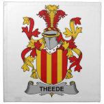 Escudo de la familia de Theede Servilletas Imprimidas