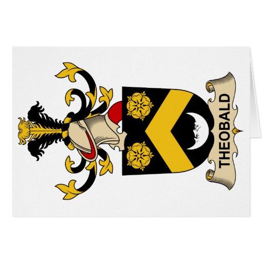 Escudo de la familia de Theobald Tarjeta De Felicitación