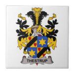 Escudo de la familia de Thestrup Azulejo