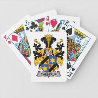 Escudo de la familia de Thestrup Baraja Cartas De Poker