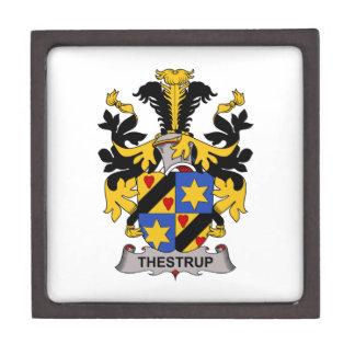 Escudo de la familia de Thestrup Caja De Recuerdo De Calidad