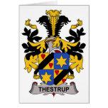 Escudo de la familia de Thestrup Felicitación