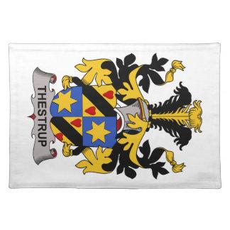 Escudo de la familia de Thestrup Manteles