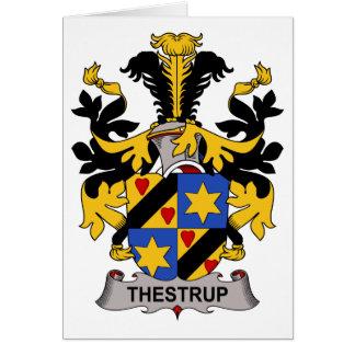 Escudo de la familia de Thestrup Tarjeta De Felicitación