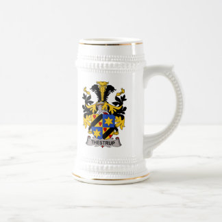 Escudo de la familia de Thestrup Tazas De Café
