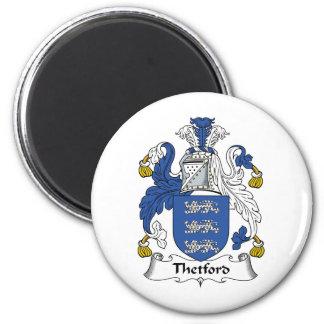 Escudo de la familia de Thetford Imán Redondo 5 Cm
