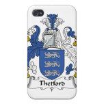 Escudo de la familia de Thetford iPhone 4 Carcasa