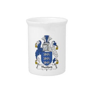 Escudo de la familia de Thetford Jarras De Beber