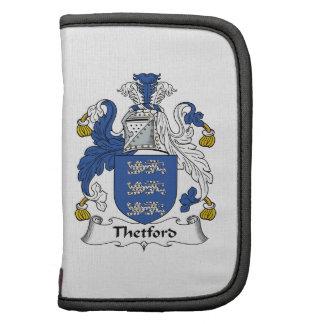 Escudo de la familia de Thetford Organizador