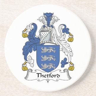 Escudo de la familia de Thetford Posavasos Diseño