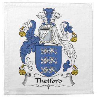 Escudo de la familia de Thetford Servilletas Imprimidas