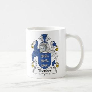 Escudo de la familia de Thetford Taza De Café