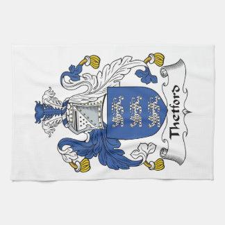 Escudo de la familia de Thetford Toallas