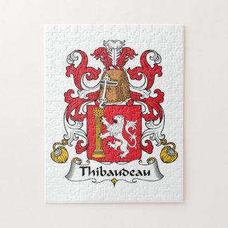 Escudo de la familia de Thibaudeau Puzzle Con Fotos