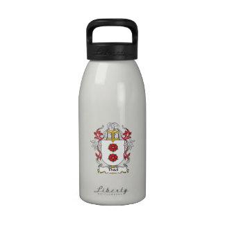 Escudo de la familia de Thiel Botella De Agua Reutilizable