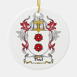 Escudo de la familia de Thiel Ornamento Para Arbol De Navidad