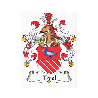Escudo de la familia de Thiel Impresiones En Lona Estiradas