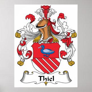 Escudo de la familia de Thiel Poster