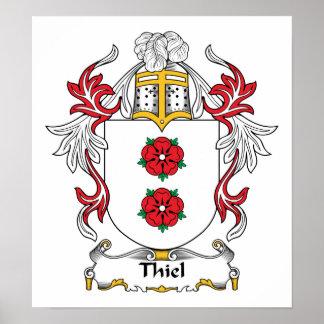 Escudo de la familia de Thiel Posters