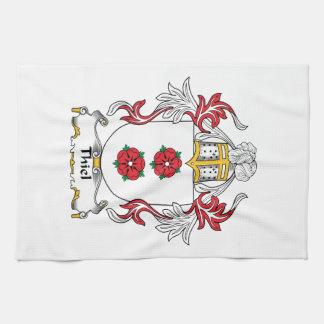Escudo de la familia de Thiel Toallas De Mano