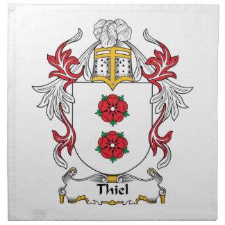 Escudo de la familia de Thiel Servilletas
